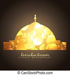 golden islamic mosque