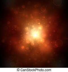 Beautiful golden lights background with many brightness. Bright abstract blurred lights vector background.