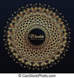 beautiful golden mandala pattern background