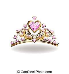 Beautiful golden princess crown
