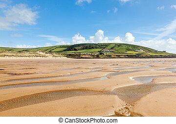 Croyde Beach Devon England UK - Beautiful golden sandy beach...