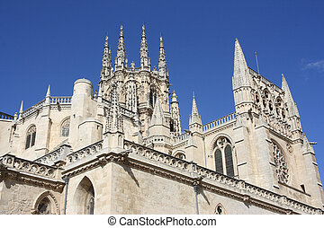 Burgos - Beautiful Gothic architecture of Burgos Cathedral ...