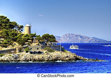 Beautiful Greek island, Hydra - The beautiful Greek Island,...