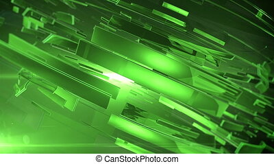 """Beautiful Green 3d animation of abstract background."""