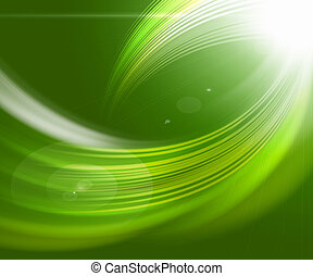 Beautiful green abstract backgrounds in the form of waves and lines