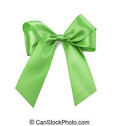 Beautiful green bow.