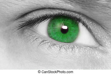 Beautiful green eye