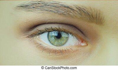 beautiful green eyes close-up