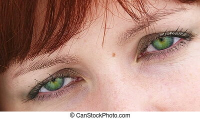 Beautiful Green Eyes Of a Young Female