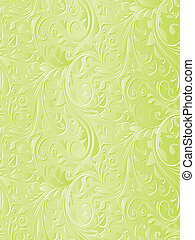 Beautiful green floral background
