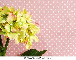 beautiful green hydrangea of artificial flowers bouquet