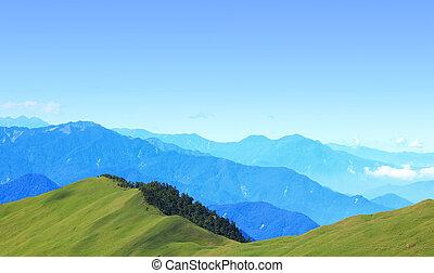 beautiful Green mountain with sky