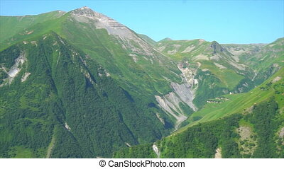 beautiful green mountains of Georgia , overview
