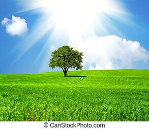 Beautiful green planet