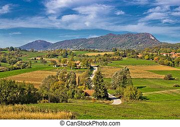 Beautiful green scenery of Prigorje region & Kalnik...