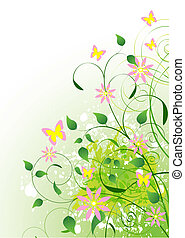 Beautiful Green Summer background. Place for copytext