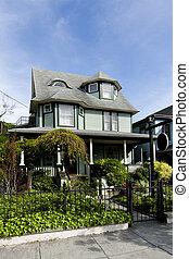 Beautiful green Victorian home