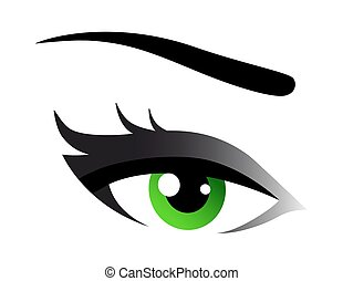green woman eye