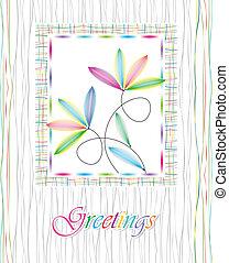 Beautiful greeting card design