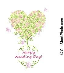 Beautiful greeting card for wedding