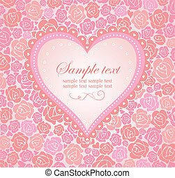 Beautiful greeting card with heart