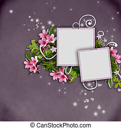 Beautiful greeting card  with photo frames