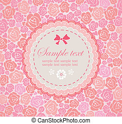 Beautiful greeting card with rose