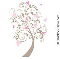 Beautiful greeting card with tree