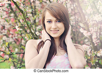 Beautiful gril - spring portrait
