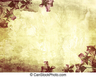 Beautiful grunge background with magnolia