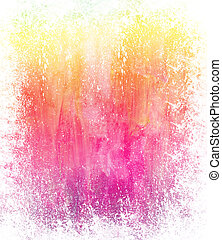 Beautiful grunge splatter background in soft pink and yelow