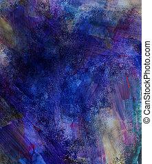 Beautiful grunge splatter background in soft purple and blue