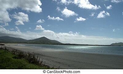 Beautiful Gulf And Mountains - Steady, wide shot of a...