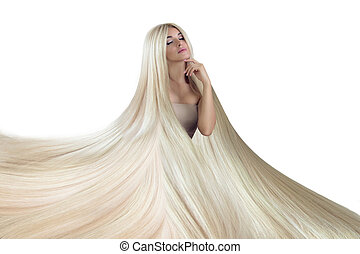 Beautiful Hair. Beauty woman with luxurious long hair.