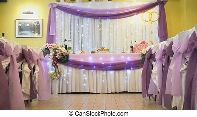 Beautiful hall decoration for wedding