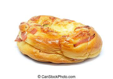 Beautiful ham cheese bun