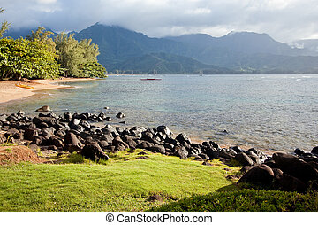 Beautiful Hanalei Bay Late One Summer Afternoon.