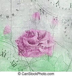Beautiful hand drawn rose on the cement wall.