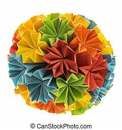 Fiori Kusudama.Origami Kusudama Rainbow Colorfull Origami Kusudama From Rainbow