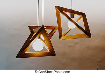 hanging lamp decoration on wall