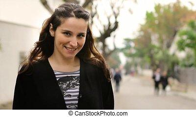 beautiful happy girl is smiling 2
