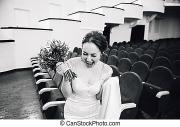 Beautiful happy girl smiling with teeth