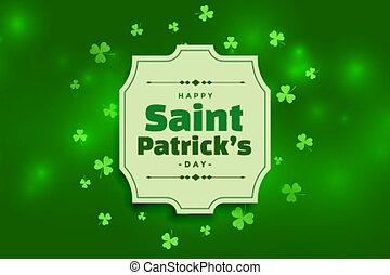 beautiful happy saint patricks day green background