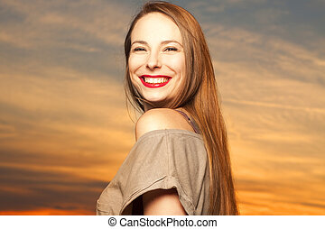 Beautiful, happy young woman