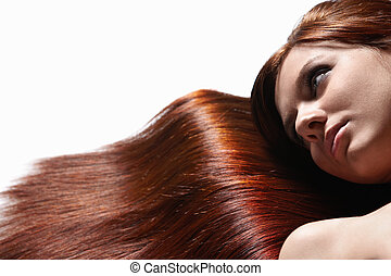 Beautiful healthy hair - Attractive girl with beautiful hair