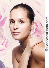 Beautiful Healthy Woman Face