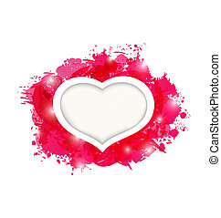 Beautiful heart for card Valentine's day
