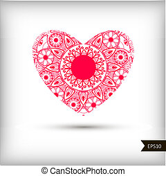 Beautiful Heart for Valentines Day background.