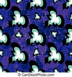 beautiful hearts on a purple background seamless pattern