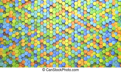 Beautiful Hexagonal Multicolored Background - Beautiful...